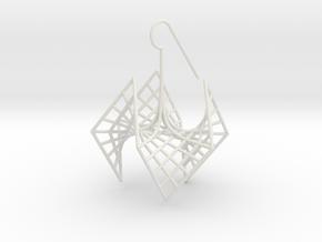 spiderRose (medium) in White Natural Versatile Plastic
