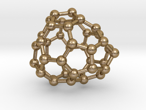 0246 Fullerene C42-25 c1 in Polished Gold Steel