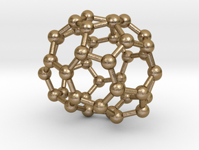 0249 Fullerene C42-28 c2 in Polished Gold Steel