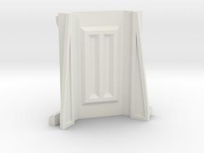 Sci-Fi Barrier / Wall / Corridor Corner in White Natural Versatile Plastic