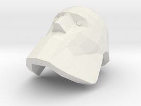 Bot Heavy Head in White Natural Versatile Plastic