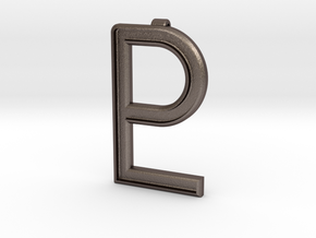 Pluto Pendant in Polished Bronzed Silver Steel