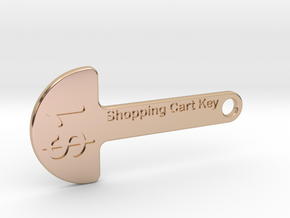 Loonie Shopping Cart Key in 14k Rose Gold Plated Brass