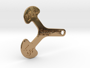 Canadian Cart Key in Polished Brass