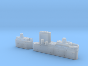 1/700 HMS Malta Island Sections in Smooth Fine Detail Plastic