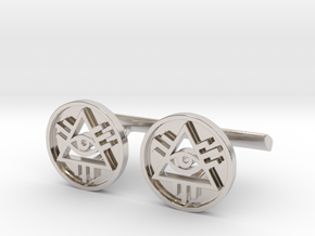 Illuminati Cufflinks in Rhodium Plated Brass