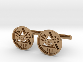 Illuminati Cufflinks in Polished Brass
