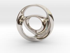 Vortex Pendant in Rhodium Plated Brass