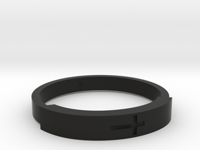 Bracelets with Christ in Black Natural Versatile Plastic