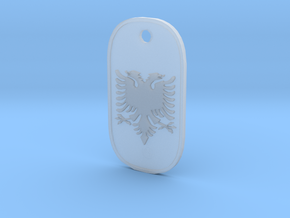 Albanian Pendant in Smooth Fine Detail Plastic