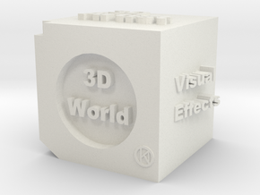 Cube of 3D Artist in White Strong & Flexible