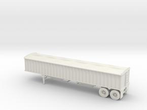 N-scale CPS/Manac 40 Grain Trailer W/Tarp in White Natural Versatile Plastic