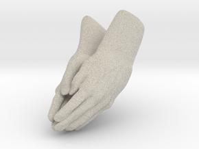 Praying Hands in Natural Sandstone