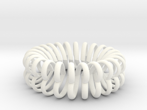 Herz Band Ring Ausn 11 in White Processed Versatile Plastic
