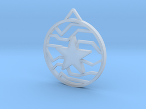 Winter Soldier Star Pendant (Small) in Smooth Fine Detail Plastic