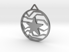 Winter Soldier Star Pendant (Small) in Natural Silver