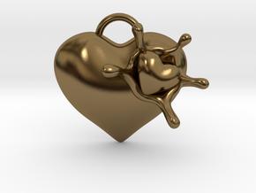 LoveSplash Custom 7 capital letters in Polished Bronze