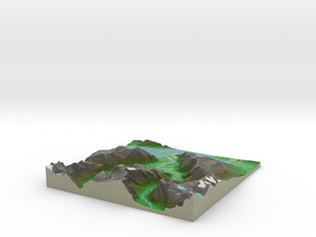 Terrafab generated model Fri Jul 17 2015 01:34:51  in Full Color Sandstone