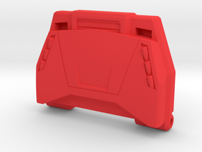 Lambo Chest Plate in Red Processed Versatile Plastic: Small