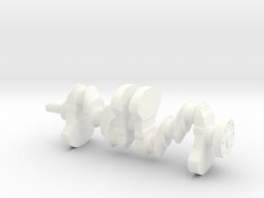 Motor part. crankshaft in White Processed Versatile Plastic