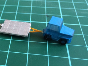 GSE Airport Baggage Tractor 1:200 (2pc) in White Processed Versatile Plastic