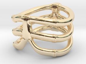 Thorsten 3 Rib - Ring in 14k Gold Plated Brass: 8.75 / 58.375