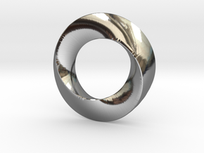 twisted moebius  in Fine Detail Polished Silver