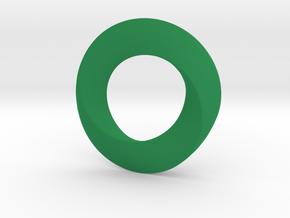 twisted moebius  in Green Processed Versatile Plastic
