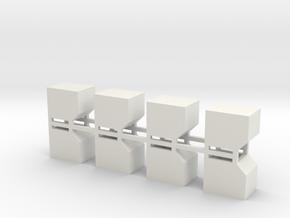 LD-3 Air Cargo Container 1:200 8pc in White Natural Versatile Plastic