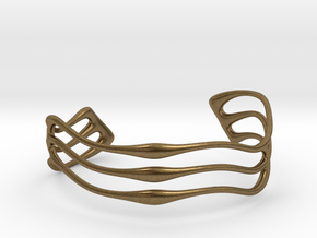 Bracelet Waves #2  in Natural Bronze