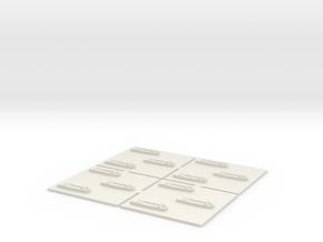 1/600 LCA 12 off in White Natural Versatile Plastic