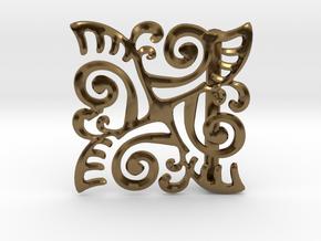 Ornate Belt Buckle  in Polished Bronze