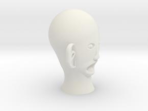 THE CREEPIEST FACE EVER!!!!! in White Natural Versatile Plastic