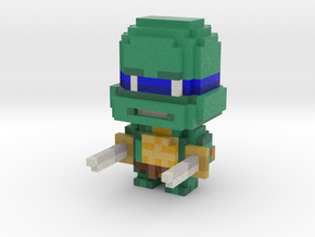 """Leo"" Voxel Figurine in Full Color Sandstone"