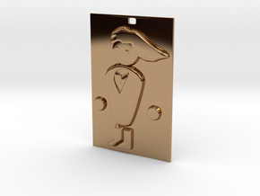 PC Master Race Keychain in Polished Brass