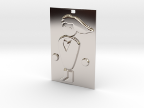 PC Master Race Keychain in Rhodium Plated Brass