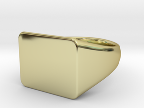 Customizable signet Ring Rectangular in 18k Gold Plated Brass