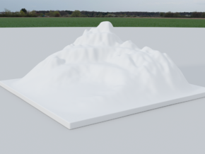 Mountain Landscape 1 in White Natural Versatile Plastic