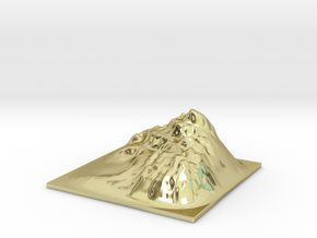 Mountain Landscape 1 in 18k Gold Plated Brass