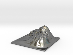 Mountain Landscape 1 in Fine Detail Polished Silver