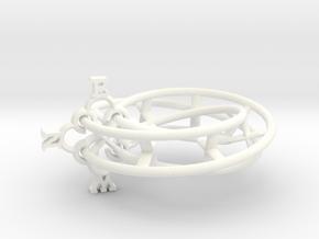 Mobius Compass  in White Processed Versatile Plastic