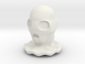 Halloween Character Hollowed Figurine: SkullGhosty in White Natural Versatile Plastic