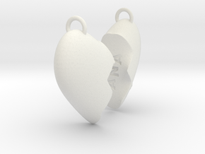 Heart (Personalize as you wish) in White Natural Versatile Plastic