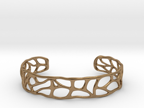 Bracelet abstract version #1 in Natural Brass
