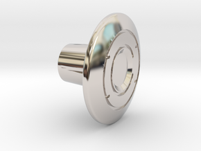 Shooter Rod Knob - Identity Disc - 1 in Rhodium Plated Brass