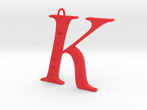 K Gold 18 Personalized in Red Processed Versatile Plastic