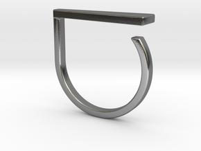 Adjustable ring. Basic model 9. in Polished Silver