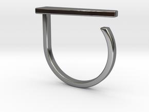 Adjustable ring. Basic model 10. in Fine Detail Polished Silver
