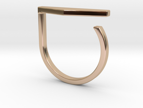 Adjustable ring. Basic model 11. in 14k Rose Gold Plated Brass