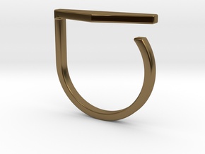 Adjustable ring. Basic model 11. in Polished Bronze